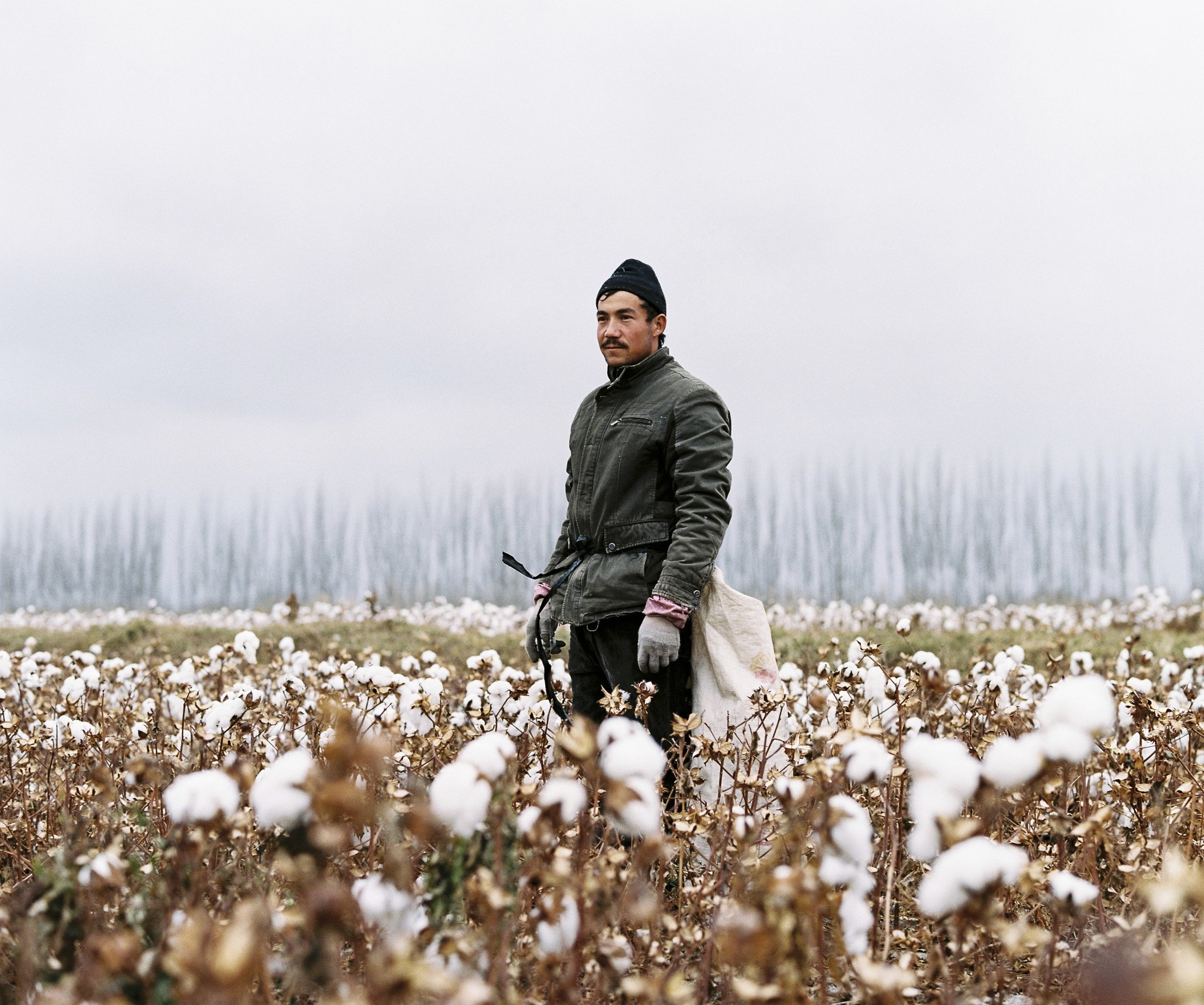 "November 2016. Xinjiang province, China. Young Uighur-minority seasonal worker in the last days of the cotton harvest in Luntai county in between the cities of Korla and Kuqa, north of the Taklamakan desert. Luntai is a county in the Xinjiang Uyghur Autonomous Region and is under the administration of the Bayin'gholin Mongol Autonomous Prefecture. Cotton is one of the largest agricultural industries in the province and many local Uighurs are used as cheap seasonal labour during the harvest.  Xinjiang is the westernmost province in all China, located at the border of Central Asian countries, Russia and Mongolia. More than twice the size of France, it has only 22 million inhabitants, a majority of which are the indigenous Uighurs, a sunni-muslim Turkic ethnic group which has lived in the region for centuries. Tensions have nonetheless arisen in the last decade as a consequence of the en-masse migration of Han Chinese settlers and confessional persecution by the strongly secular governmental authorities.  Borrowing from romanticized notions of the American frontier, synonymous with ideals of exploration and expansion, photographer Patrick Wack captures a visual narrative of China's westernmost region—Xinjiang. Whereas the American West conjures images of cowboys and pioneers, of manifest destiny and individualistic freedom, the Chinese West has not yet been so defined. It is a place of pluralities—of haunting, expansive landscapes, of rough mountains and vivid lakes, of new construction and oil fields, of abandoned structures in decaying towns, of devout faith and calls to prayer, of silence and maligned minorities, of opportunity and uncertain futures. It is a land of shifting identity. In essence, Xinjiang is the new frontier to be conquered and pondered. Literally translating to ""new frontier"" in Chinese, Xinjiang is a land apart, and has been so for centuries. More than twice the land area of France with a population less than the city of Shanghai, the Chinese province of Xinjiang once connected China to Central Asia and Europe as the first leg of the ancient Silk Road. Yet it remains physically, culturally, and politically distinct, an otherness within modern China. Its infinite sense of space; its flowing Arabic scripts and mosque-filled cityscapes; its designation as an autonomous region; and simmering beneath, its uneasy relationship with the encroaching, imposing, surveilling East. For China's ethnic Han majority, Xinjiang is once again the new frontier, to be awakened for Beijing's new Silk Road—China's own manifest destiny—with the promise of prosperity in its plentiful oil fields. For Patrick Wack, Out West is as a much a story of the region as it is his own, as much a documentation of a contemporary and historical place as it is an emotional journey of what it means to strive, and for what. There exists an inherent fascination in the region—as both key and foil to the new China—and a siren's call to its vast limitlessness that instinctively incites introspection and desire. Showcasing a romanticism of the frontier, Out West presents Xinjiang via the lens of its present day, in photography that speaks of the surrealistic tranquility—and disquiet—of the unknown. Out West offers an experience of Xinjiang that highlights its estrangement from contemporary perceptions of the new China, accentuating undercurrents of tension and the mystique it has cultivated—whether in their minds or ours. At its core, Out West is a question of perspective: What is the West but the East to another?"