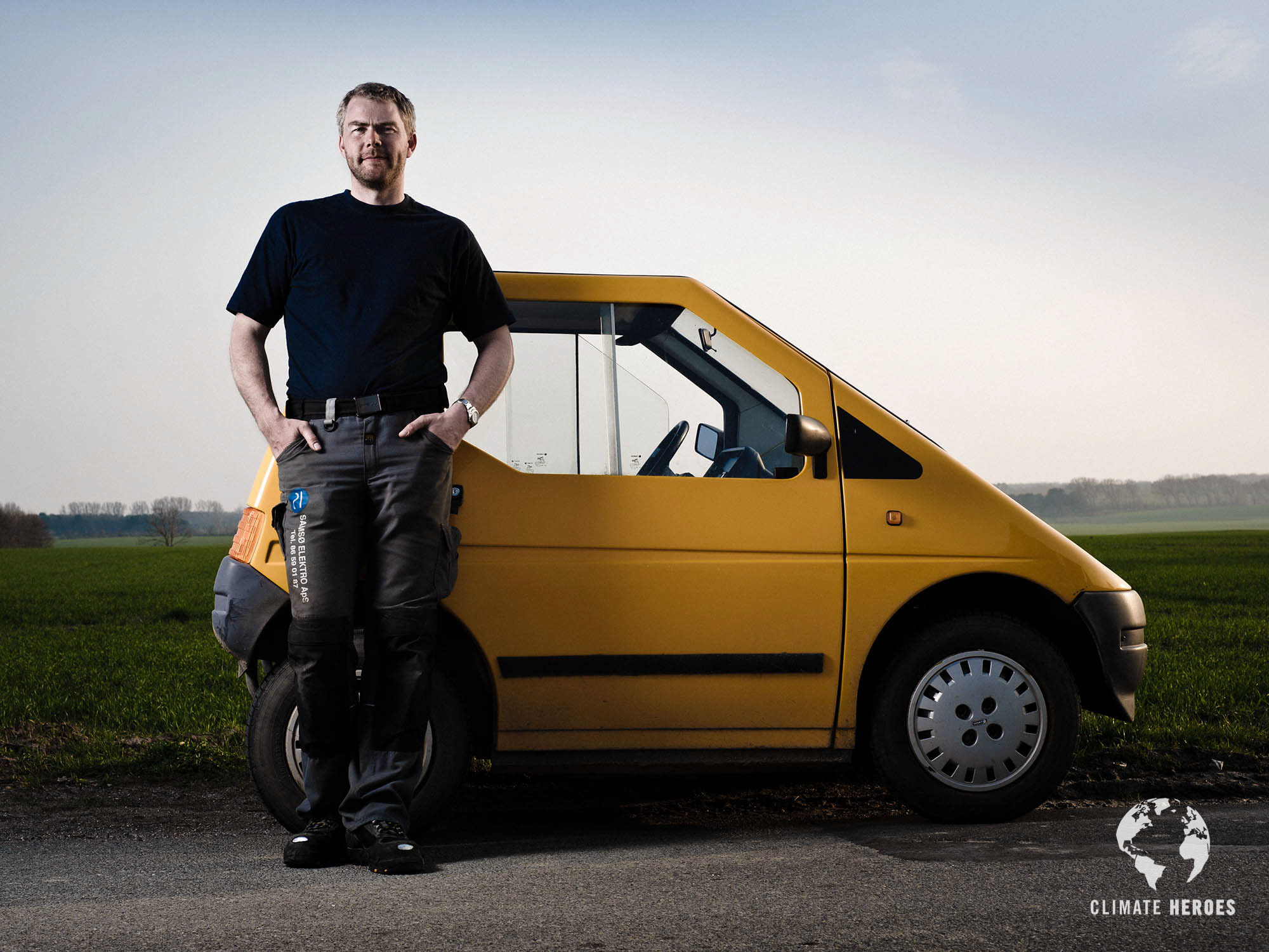 Climate Heroes project, Samso. Brian Kjaer, electrician